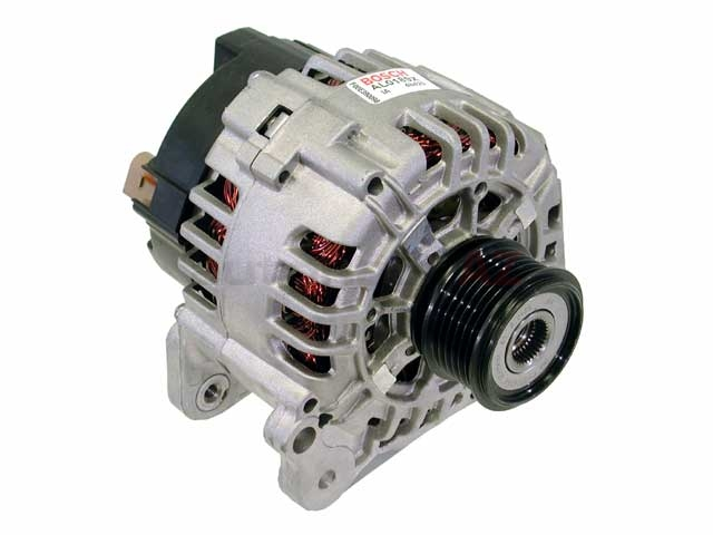AL0189X Bosch (OE Reman) Alternator; 120 Amp w/ Clutch Pulley