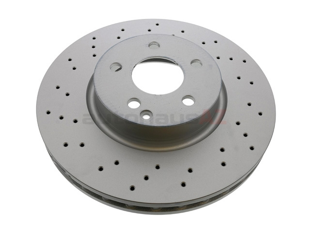 000421301207 ATE Coated Disc Brake Rotor; Front