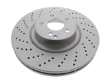 2204211912 ATE Coated Disc Brake Rotor; Front; Vented and Cross-Drilled; 360 x 36mm