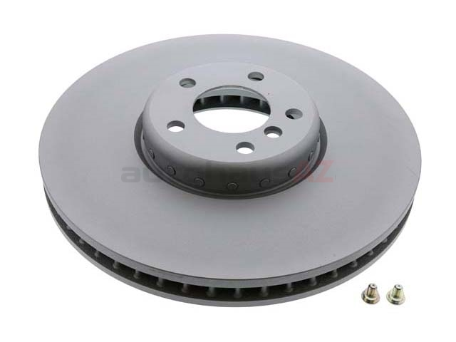 34116789543 ATE Coated Disc Brake Rotor; Front Left; Directional