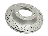 98735240301 ATE Coated Disc Brake Rotor; Rear