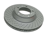99635240502 ATE Coated Disc Brake Rotor; Rear Left