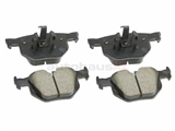 34216790762 Akebono Euro Brake Pad Set; Rear