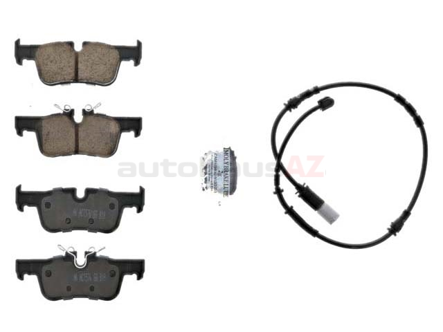 34216859917 Akebono Euro Brake Pad Set; Rear