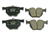 34216868497 Akebono Euro Brake Pad Set; Rear