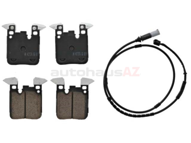34216887576 Akebono Euro Brake Pad Set; Rear