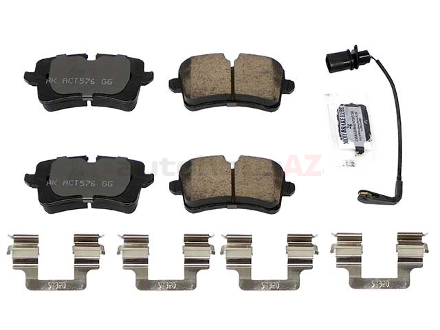 4G0698451J Akebono Euro Brake Pad Set; Rear