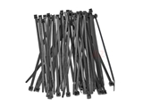 15146 Auveco Nylon Cable Ties (50 Pack); 7x3/16in; Black Color