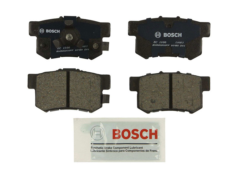 BC1086 Bosch QuietCast Ceramic Brake Pad Set; Rear