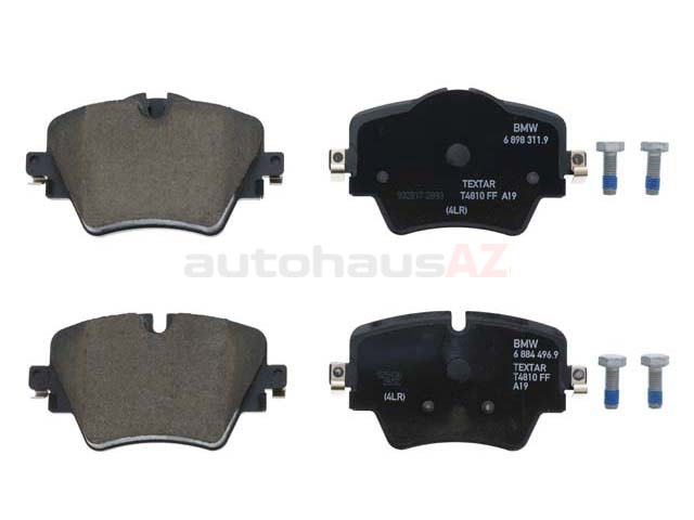 34106898307 Genuine BMW Brake Pad Set; Front