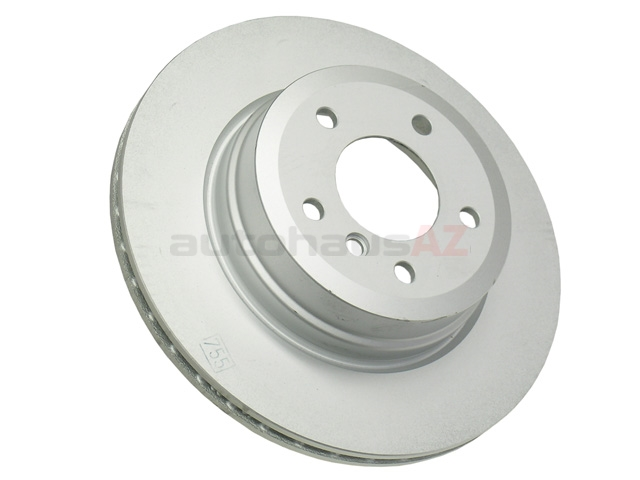 34216855003 Genuine BMW Disc Brake Rotor; Rear; Vented, 324 x 22mm