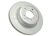 BM-34216855003 Genuine BMW Disc Brake Rotor; Rear; Vented, 324 x 22mm
