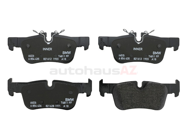 34216859917 Genuine BMW Brake Pad Set; Rear
