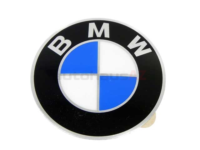 BM-36131181081 Genuine BMW Emblem; Wheel Center Cap; 58mm Diameter