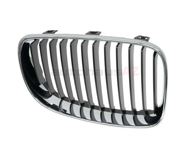 51137166440 Genuine BMW Grille; Right; Chrome with Black Grille