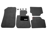 BM-82112293523 Genuine BMW Floor Mat Set; Black