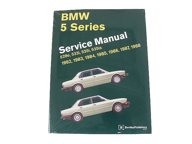 BM8000588 Robert Bentley Repair Manual - Book Version; 1982-1988 5 Series E28 Chassis; OE Factory Authorized