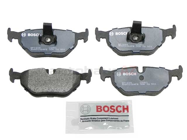 BP1239 Bosch QuietCast Brake Pad Set; Rear; OE Supplier Compound
