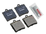 BP779 Bosch QuietCast Brake Pad Set; Rear with 1 Pin Retainer and without Sensor Slot; OE Supplier Compound