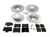 C230SPTBRKKIT AAZ Preferred Disc Brake Pad and Rotor Kit; Front/Rear Rotors & Pads, Sensors, Screws and Paste; KIT