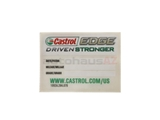 554635010 Castrol Service Reminder Sticker; 46 X 64mm; 25 Pack