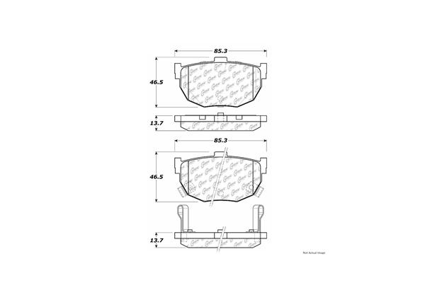 For Maxima,Stanza,Elantra,Tiburon,Spectra,Spectra5 Rear Ceramic Brake Pads
