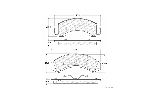 10303870 Centric Brake Pad Set; C-Tek Ceramic Brake Pads