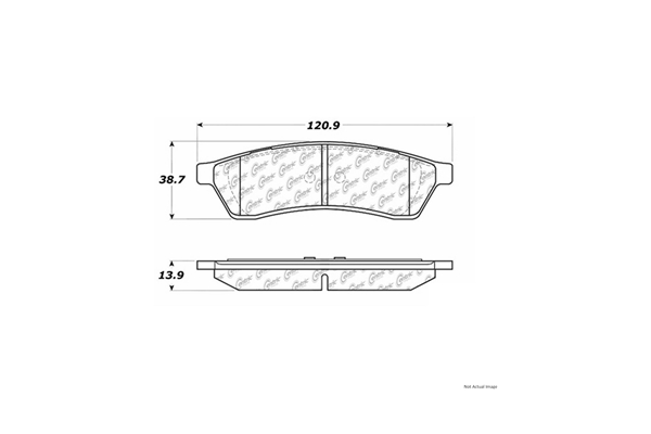 105.10300 Centric Posi-Quiet Ceramic Brake Pads w/Shims and Hardware; Rear