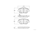 10514440 Centric Brake Pad Set; Posi-Quiet Ceramic w/Shims and Hardware