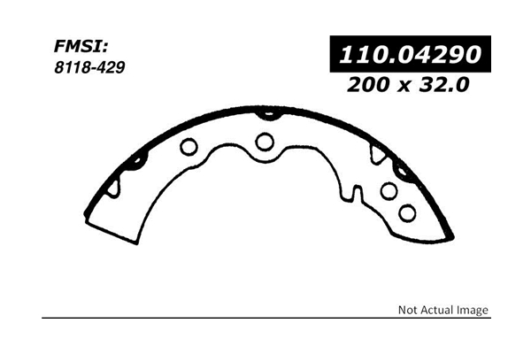 11104290 Centric Brake Shoe Set