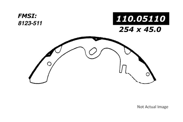 111.05110 Centric Brake Shoe Set; Rear