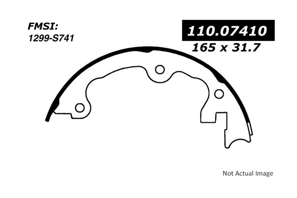 Centric Parts 111.09020 Brake Shoe