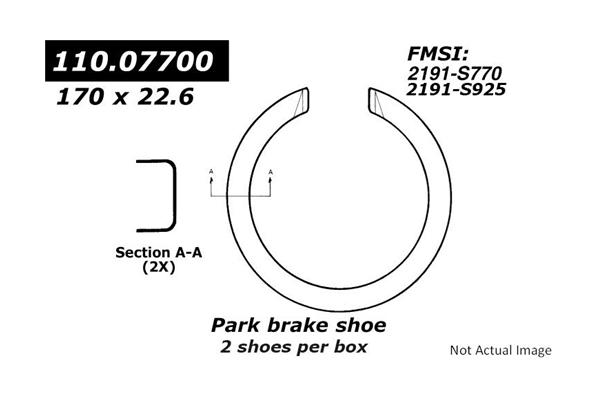 Centric 111.07700 Premium Rear Parking Brake Shoes