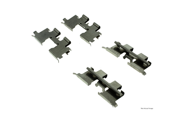 117.42001 Centric Disc Brake Hardware Kit; Rear
