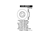 CE-12540062 Centric Disc Brake Rotor; High Carbon Alloy Brake Disc