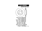 12540066 Centric Disc Brake Rotor; High Carbon Alloy Brake Disc