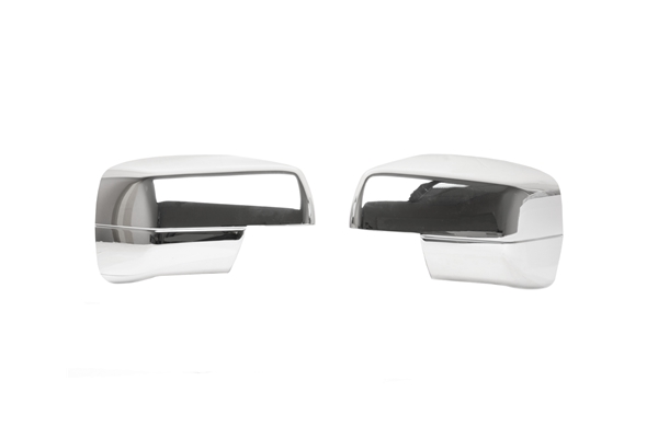 CM-LR URO Parts Door Mirror Cover; Chrome, 2pc Set
