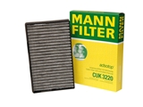 CUK3220 Mann Cabin Air Filter; Replacement One Piece Version; Activated Charcoal