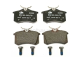 D104A ATE Brake Pad Set; Rear
