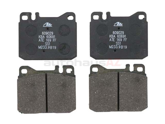 D311ATE ATE Brake Pad Set; Front; OE Compound