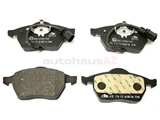D600A ATE Brake Pad Set; Front with Sensor; OE Supplier Compound