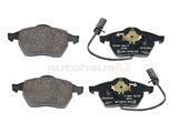 D600T Textar Brake Pad Set; Front with Sensors