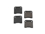 D8009OSM OP Parts Semi Met Brake Pad Set; Rear