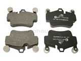 D81135A ATE Brake Pad Set; Front