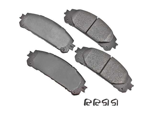 D81324ACT Akebono ProACT Brake Pad Set; Front