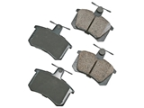 D8228EUR Akebono Euro Brake Pad Set; Rear