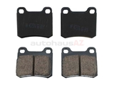 D8426EUR Akebono Euro Brake Pad Set; Rear