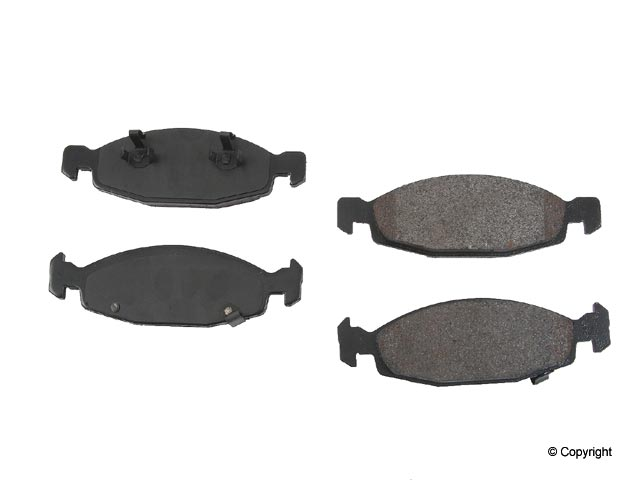 D9790OSM OPparts Semi Met Brake Pad Set; Front