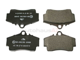 D996A ATE Brake Pad Set; Rear