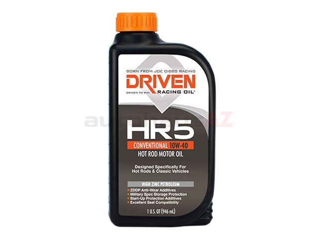 03806 DRIVEN Engine Oil; HR- Hot Rod; 10W-40 Conventional; 1 Qt